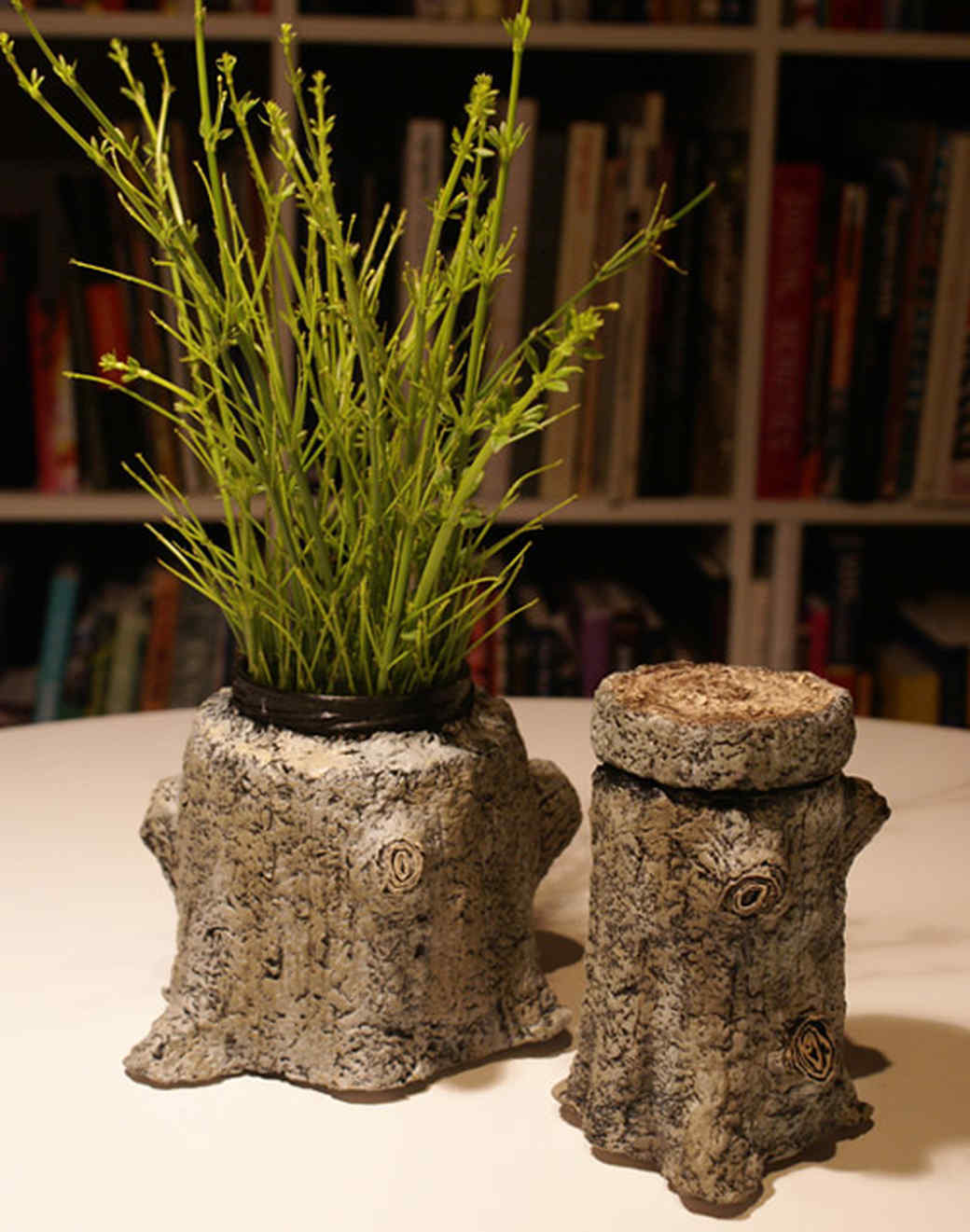 Faux-Bois Tree Stump Container & Video | Martha Stewart