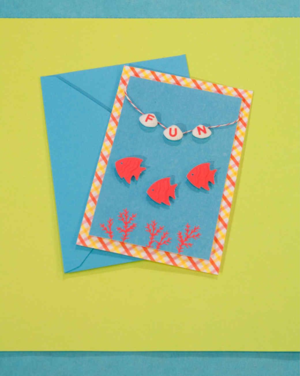 Homemade Postcard Craft