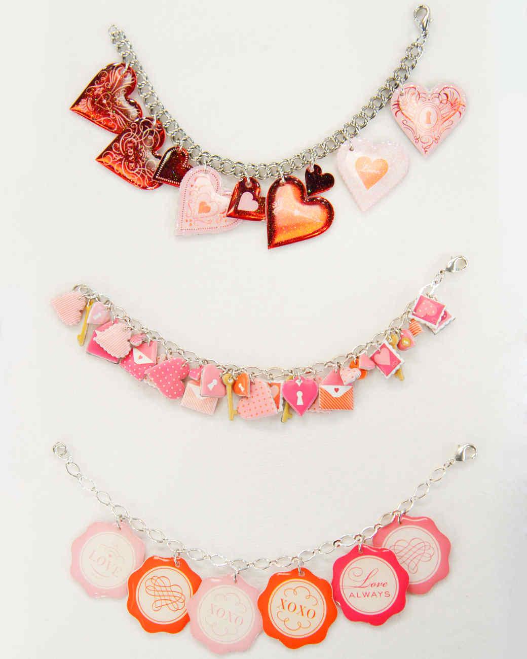 Valentine's Heart Sticker Bracelet