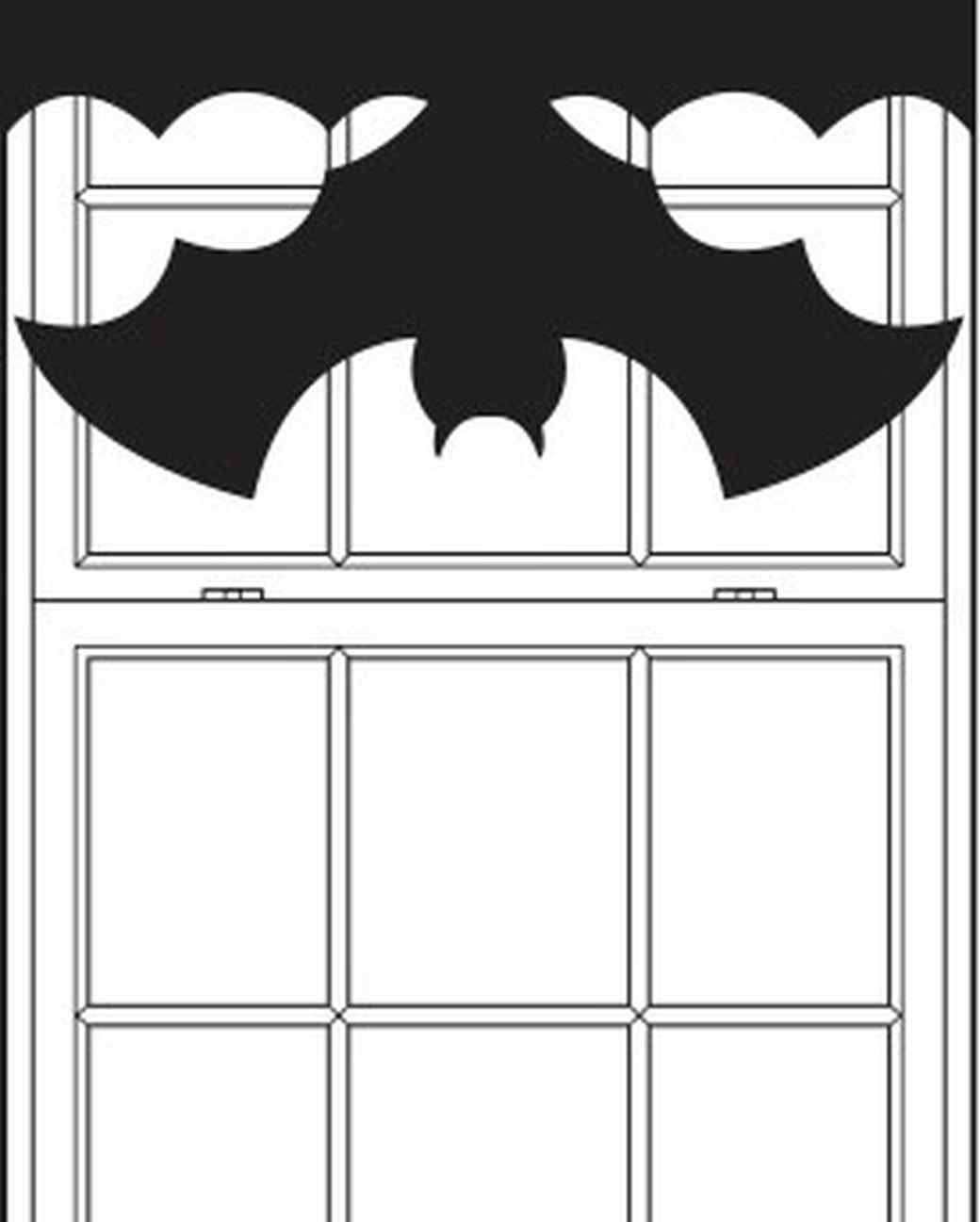 Bat Curtain Template