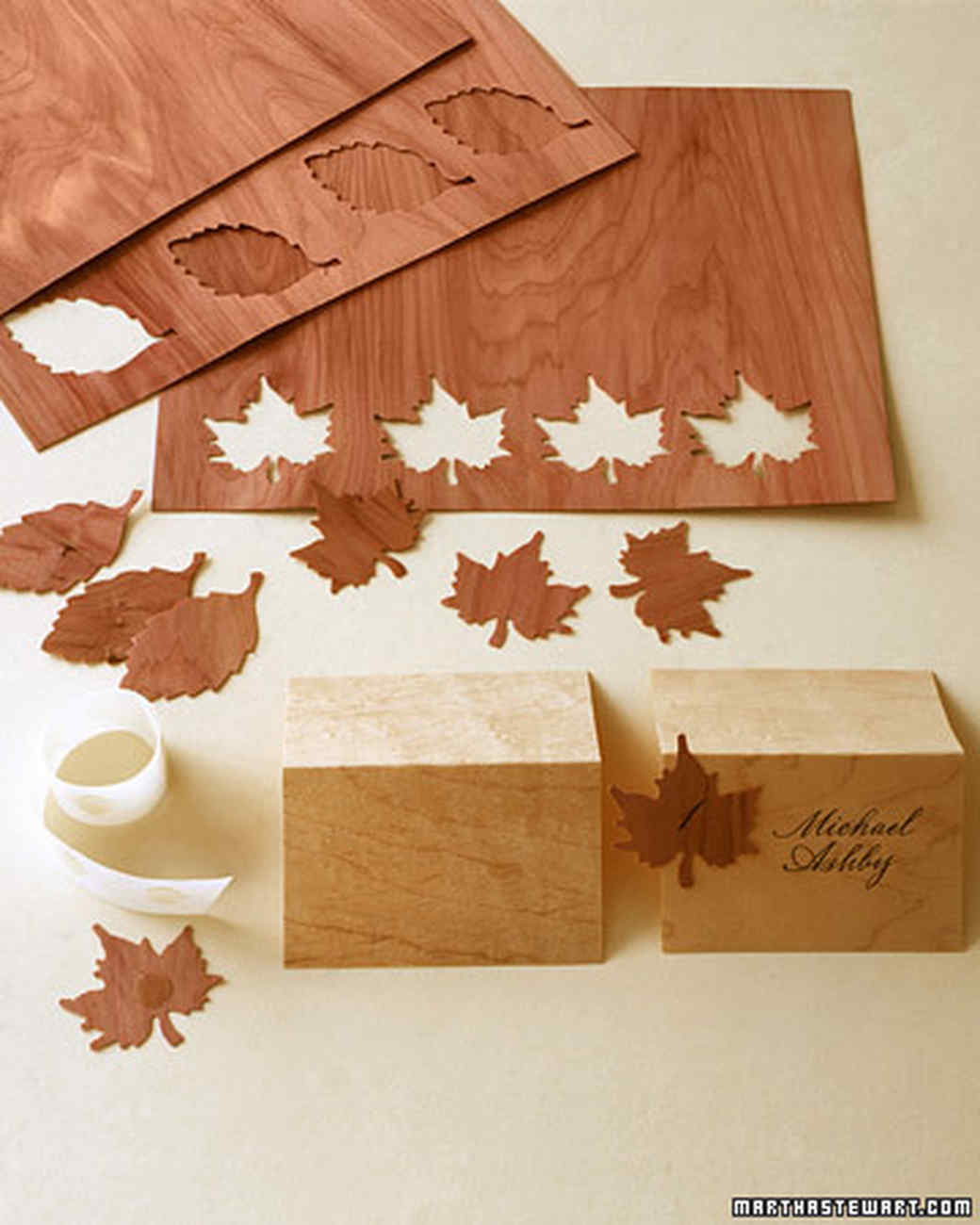 Wooden Seating Cards Martha Stewart