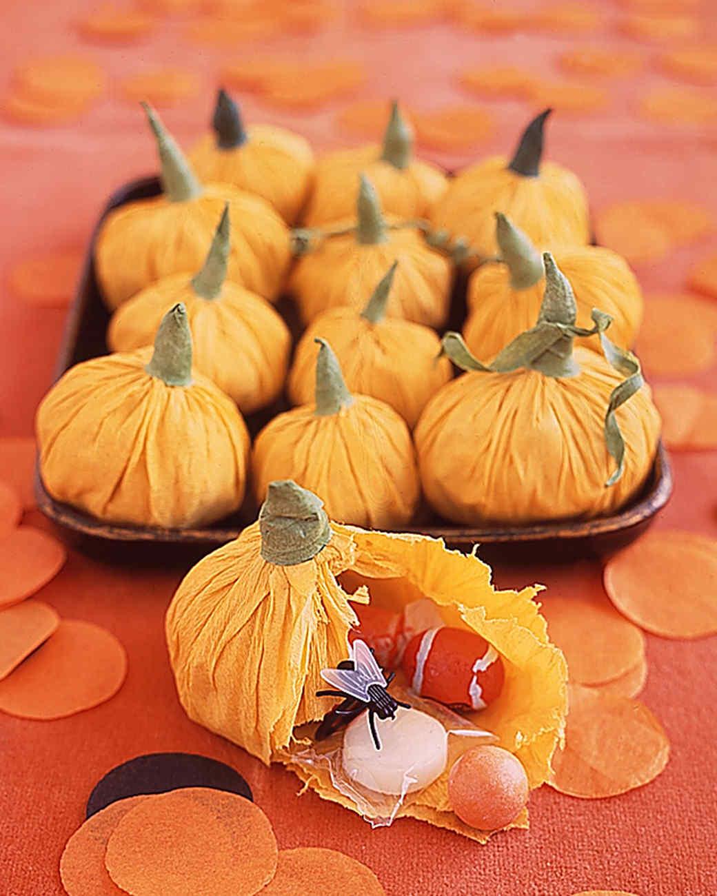 Pumpkin Favor Pouches for Halloween