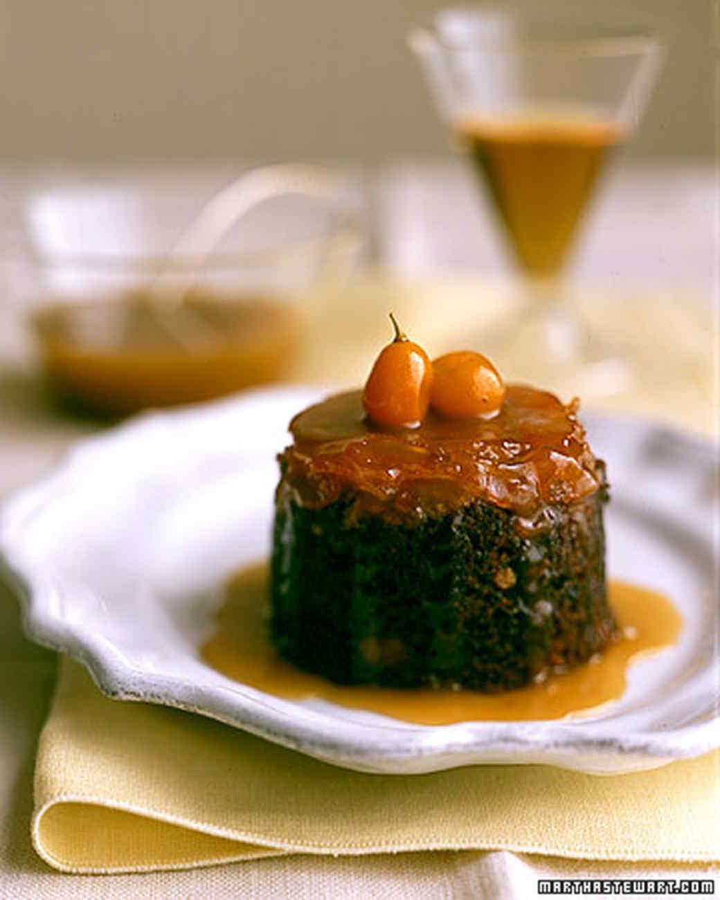 Toffee Kumquat Pudding