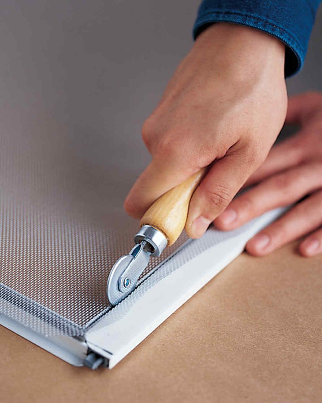 how to repair window screens martha stewart