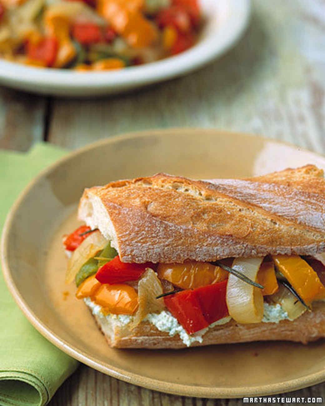 Peperonata Sandwiches