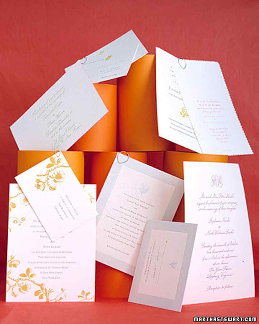 Invitations in Color | Martha Stewart