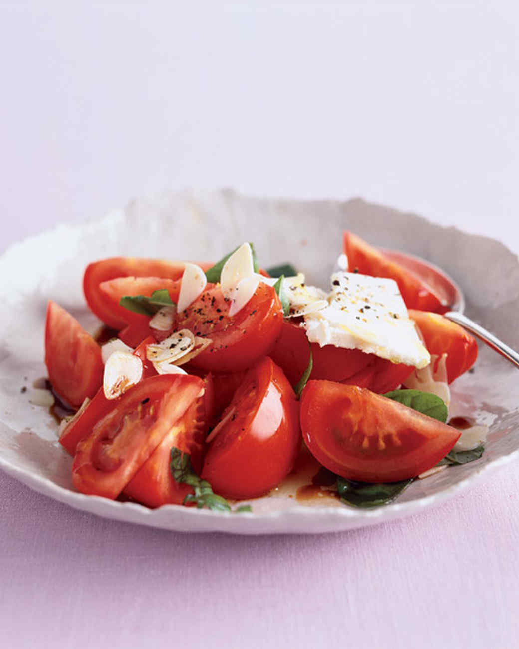 Roma Tomato Salad with Feta and Garlic
