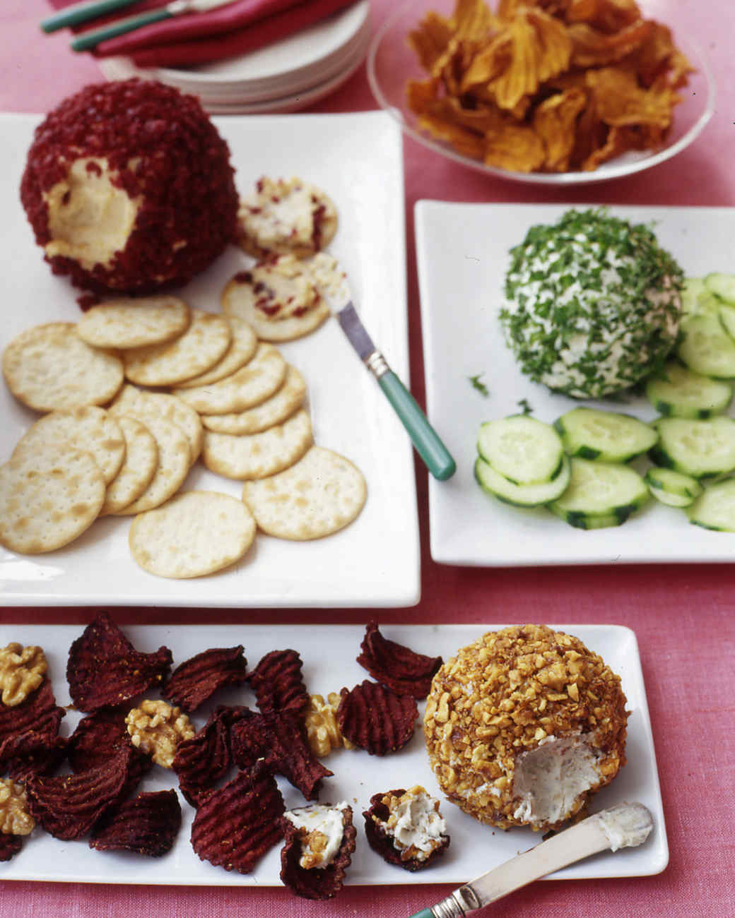 20 years of living the best christmas appetizers martha stewart cheese balls three ways forumfinder Images