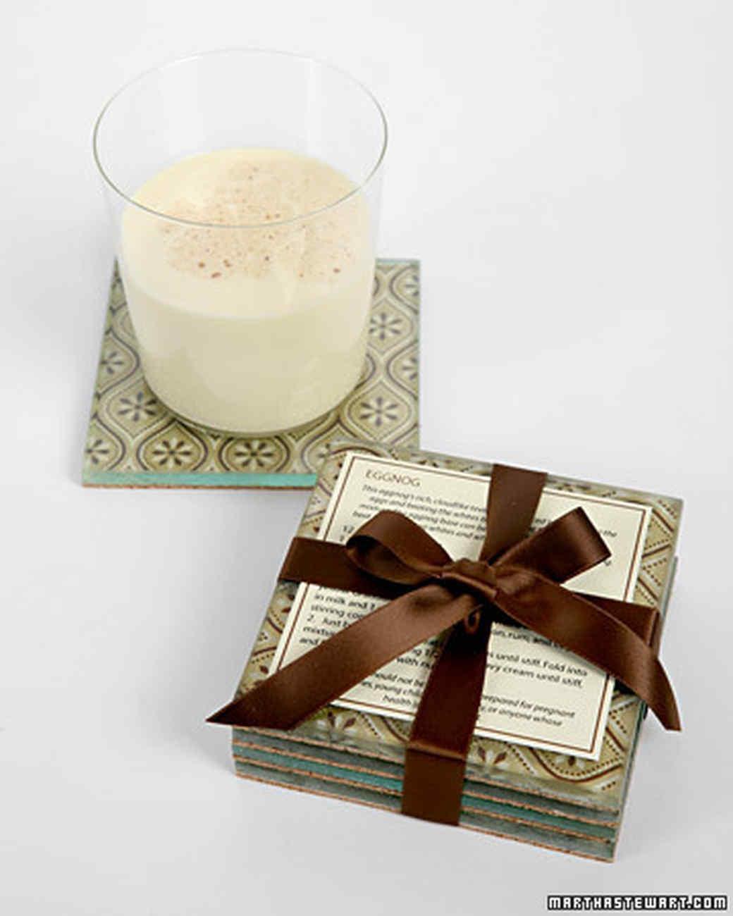 Gift-Wrap Coasters | Martha Stewart