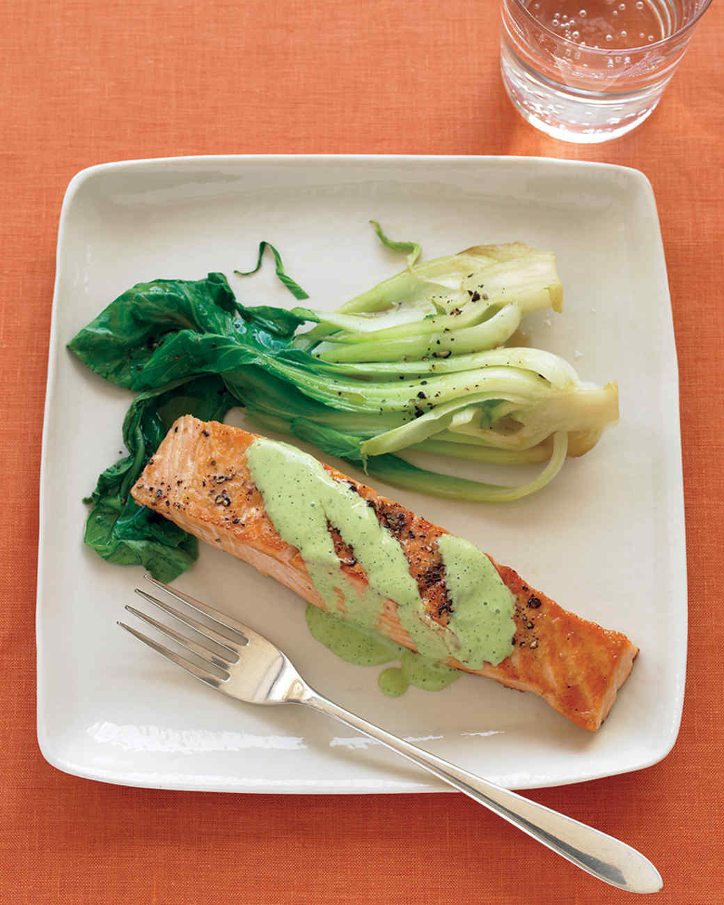 Wasabi Sauce For Fish Salmon With Wasabi Sauce And