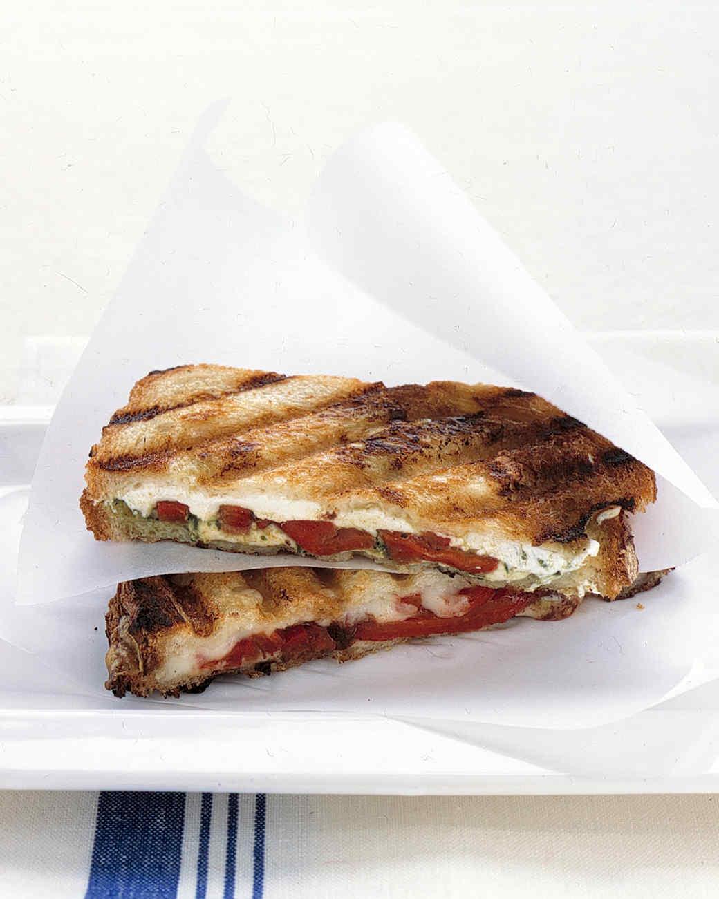 Pressed Mozzarella Sandwiches