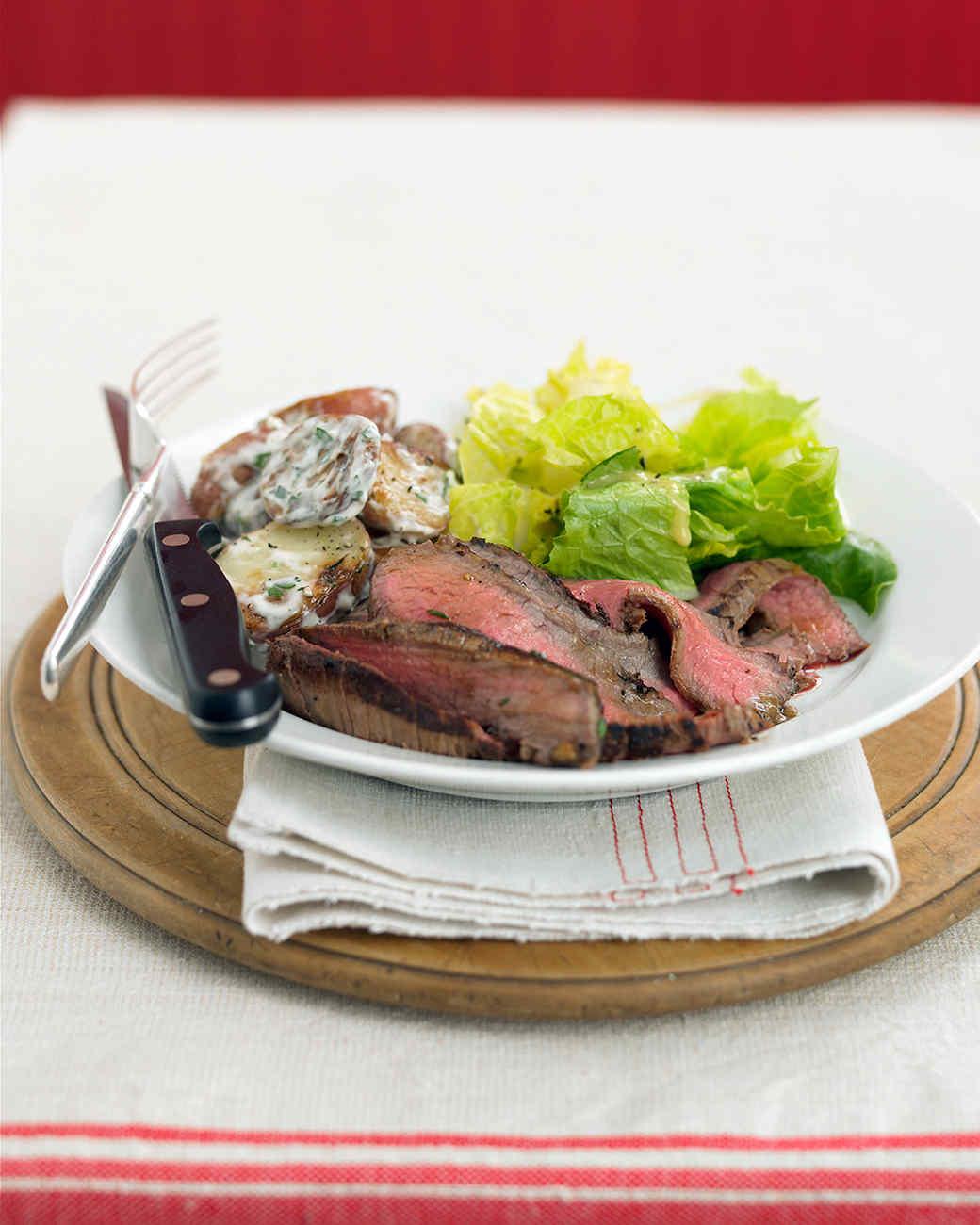 Grilled Steak with Potato Salad