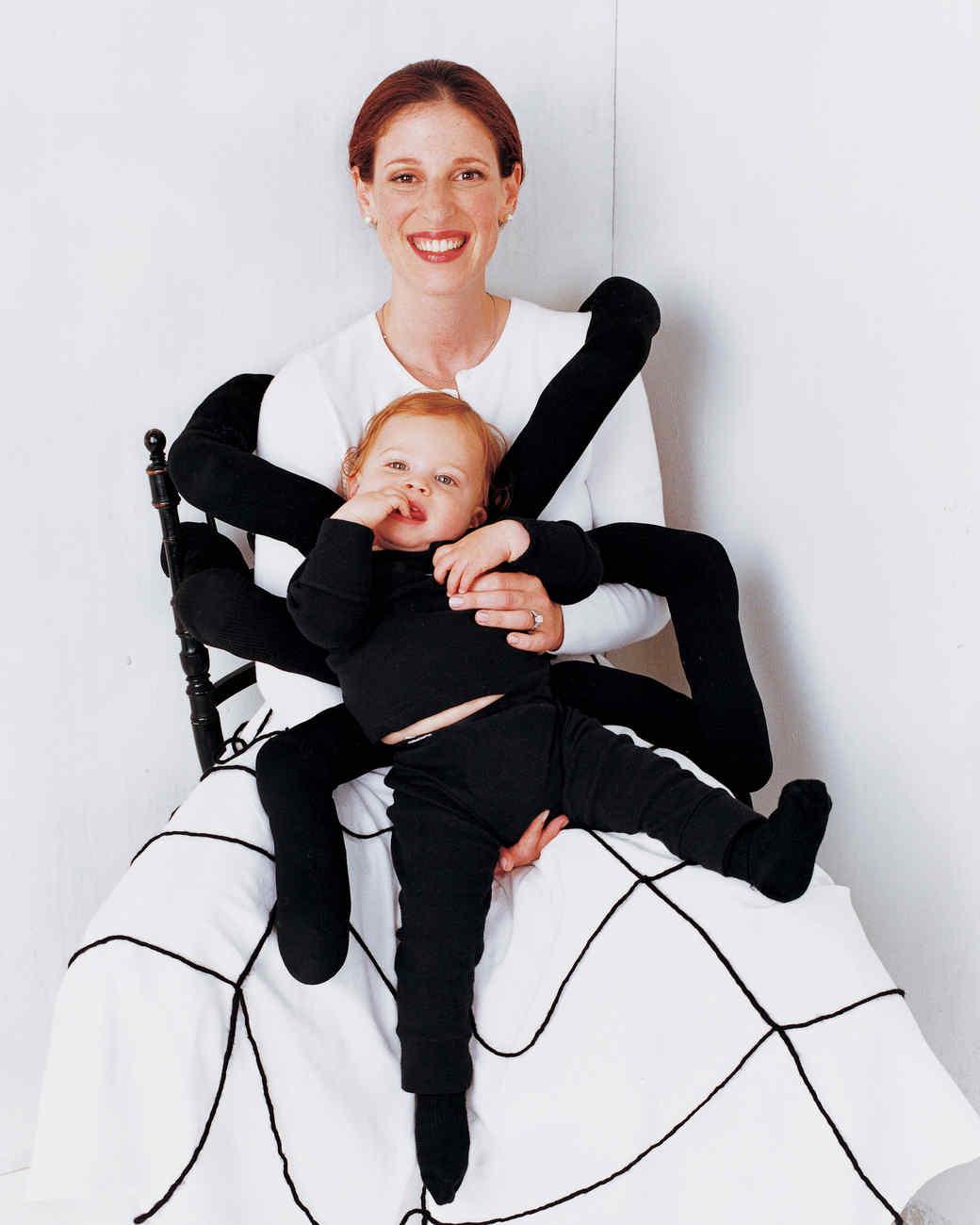 sc 1 st  Martha Stewart & Spiderweb Mother and Sock Spider Baby Costume   Martha Stewart