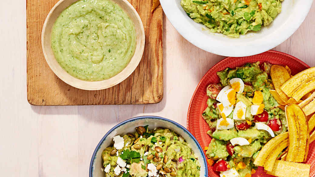 four kinds of guacamole