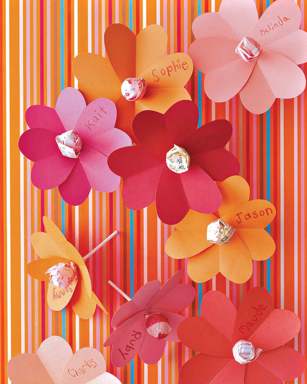Handmade Valentines For Kids: Heart And Lollipop Flowers