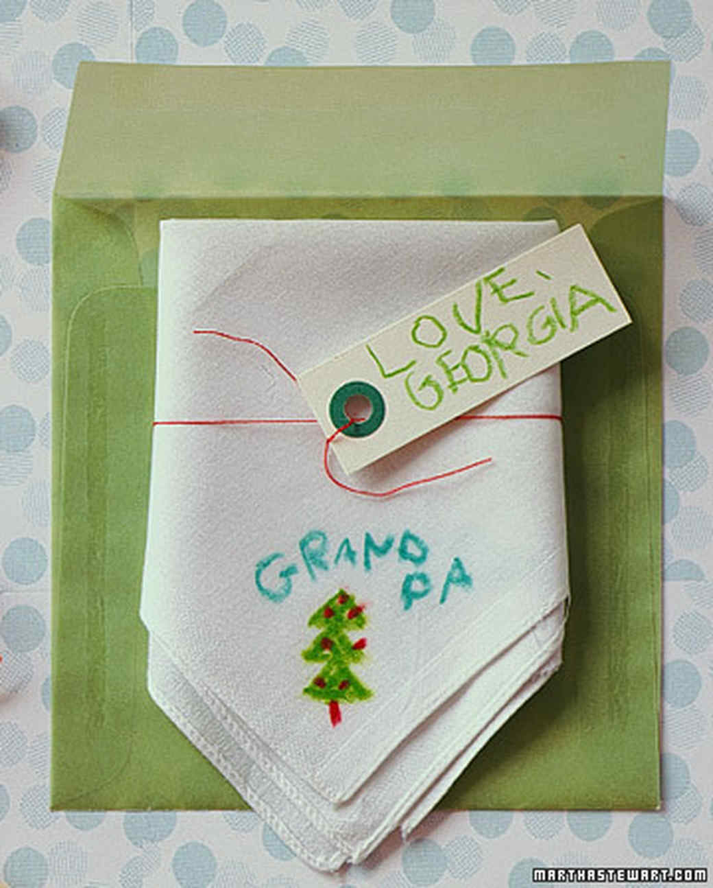 decorated handkerchief - Best Christmas Gifts For Parents