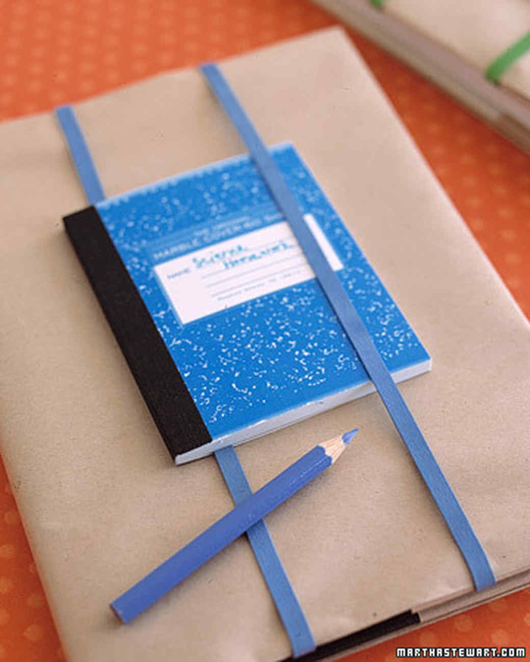 Diy School Book Cover ~ Covering textbooks martha stewart