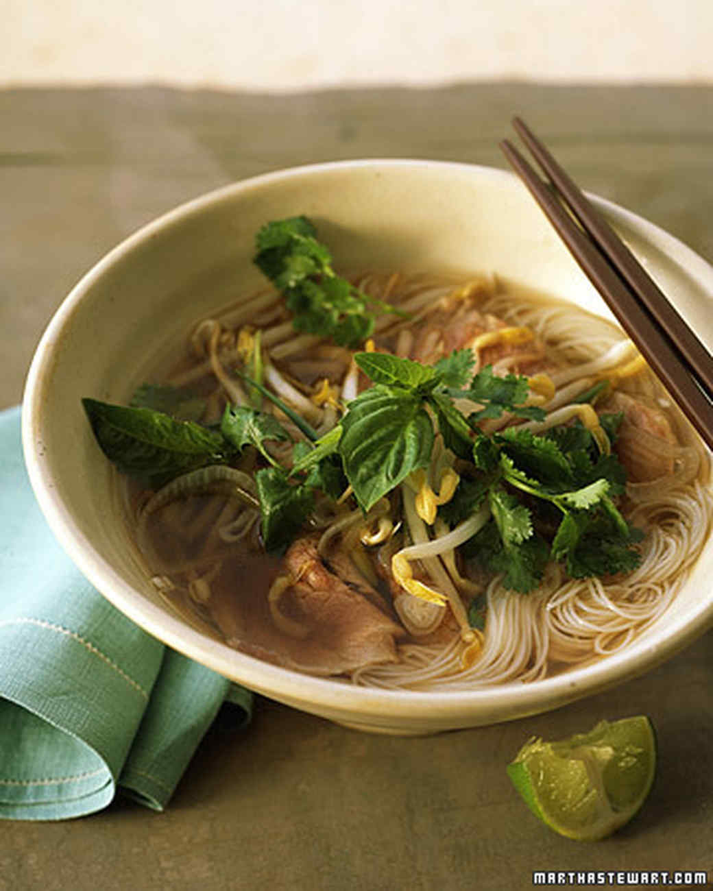 Vietnamese Beef Noodle Soup with Ginger