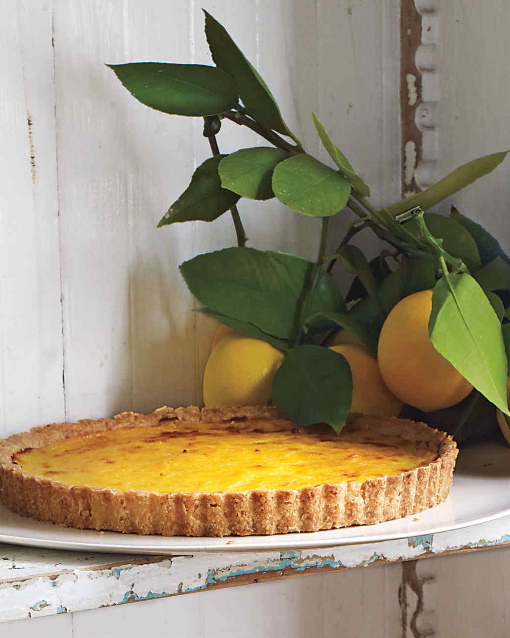 Rustic Meyer Lemon Tart