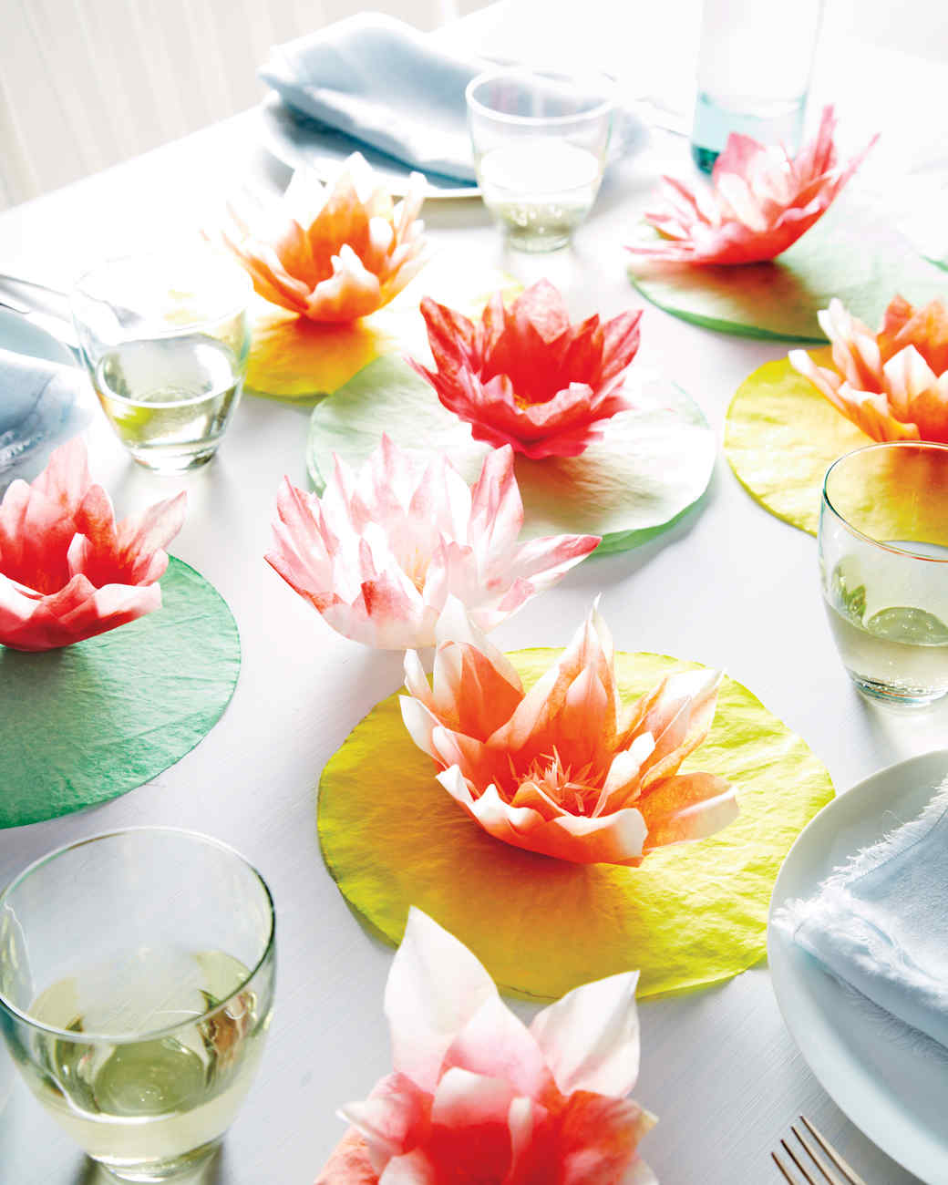 Coffee-Filter Water-Lily How-To