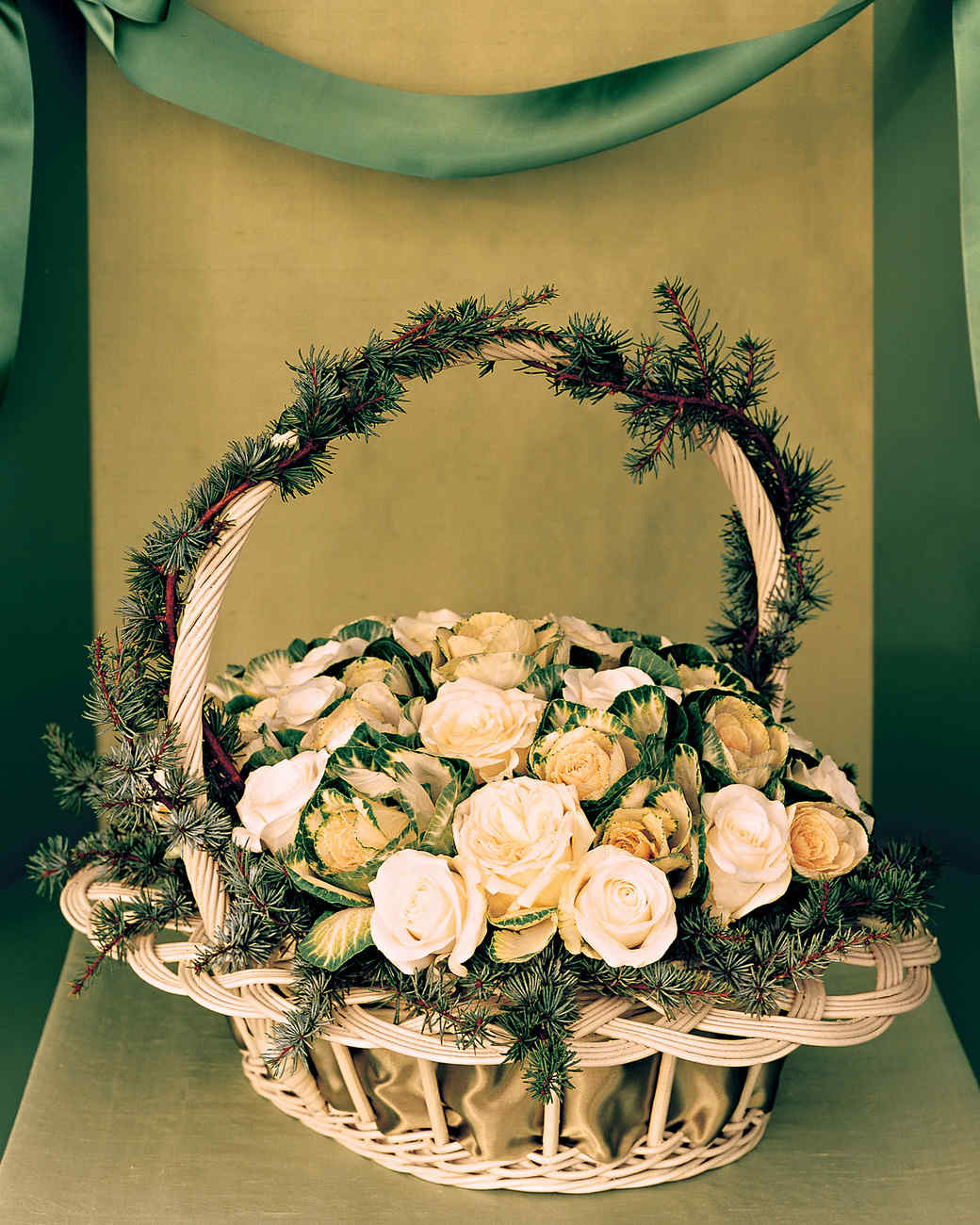 Roses and Kale Basket
