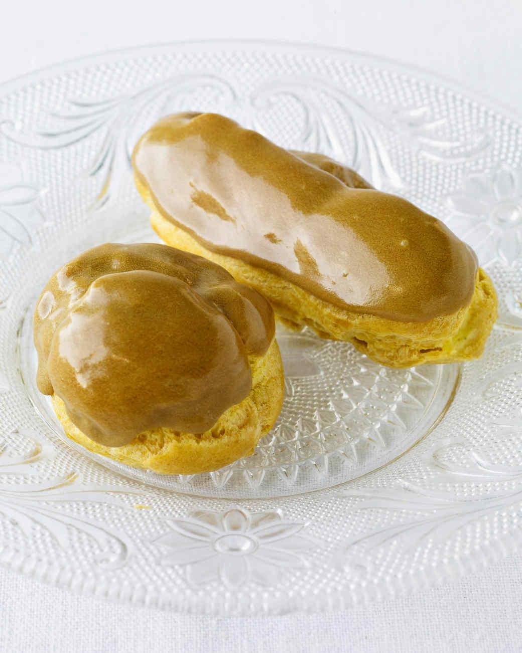 Cream Puffs with Pastry Cream and Maple-Espresso Glaze