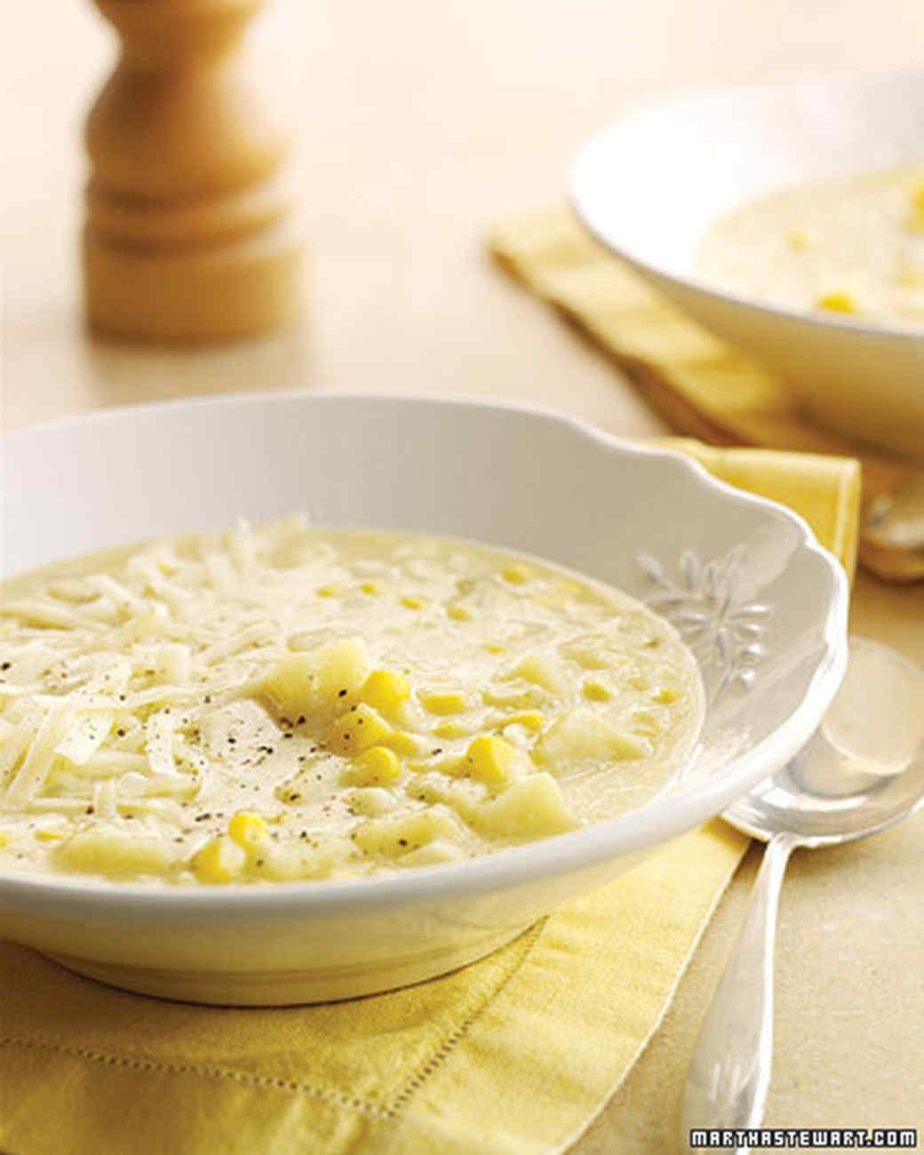 White-Cheddar Corn Chowder