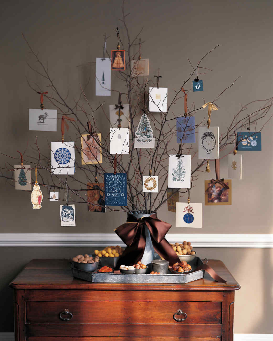 Christmas Card Tree | Martha Stewart