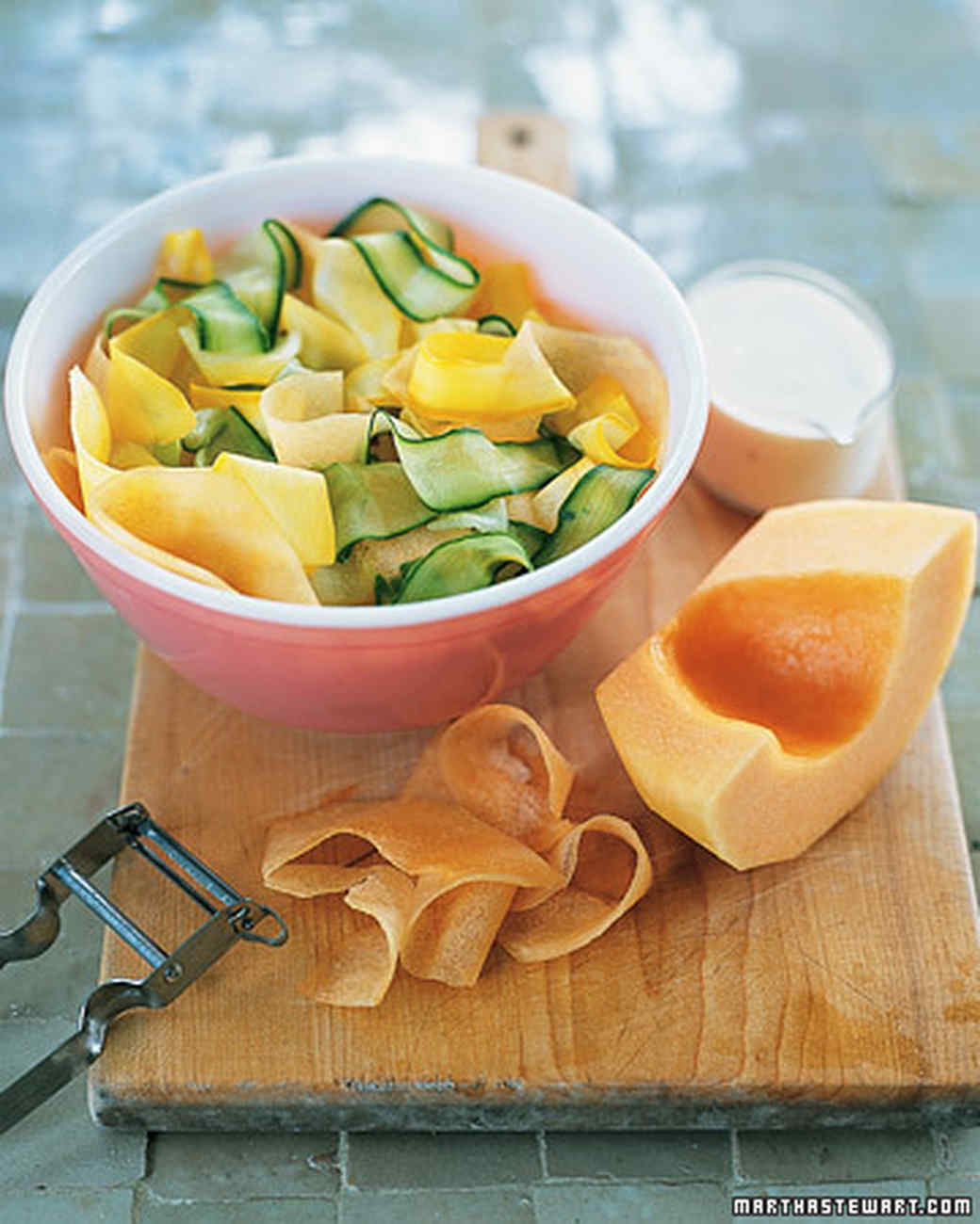 Cucumber, Cantaloupe, and Squash Salad