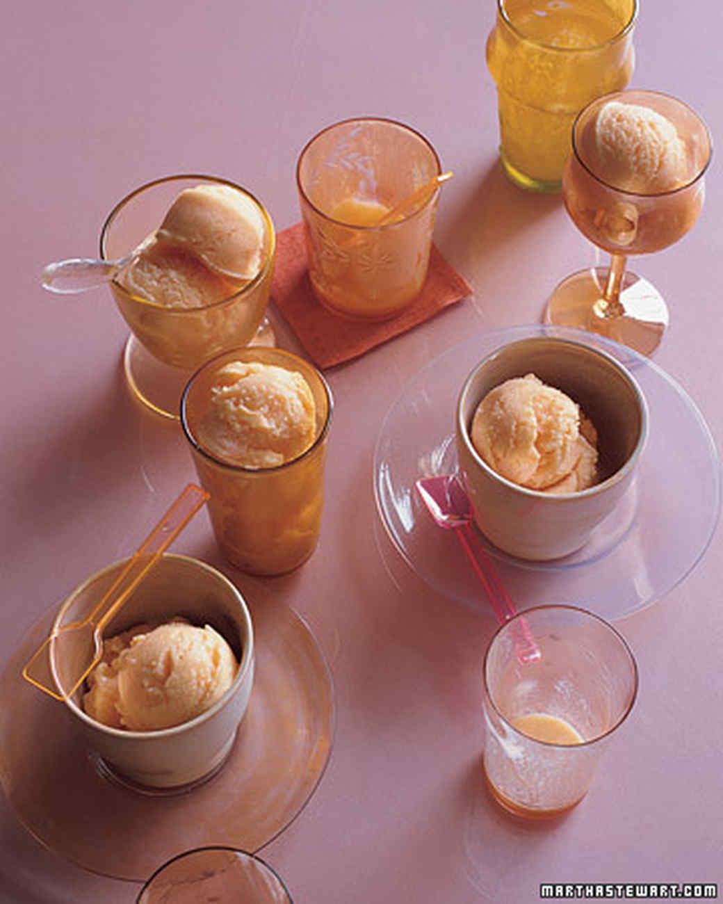 Peach and Buttermilk Sherbet