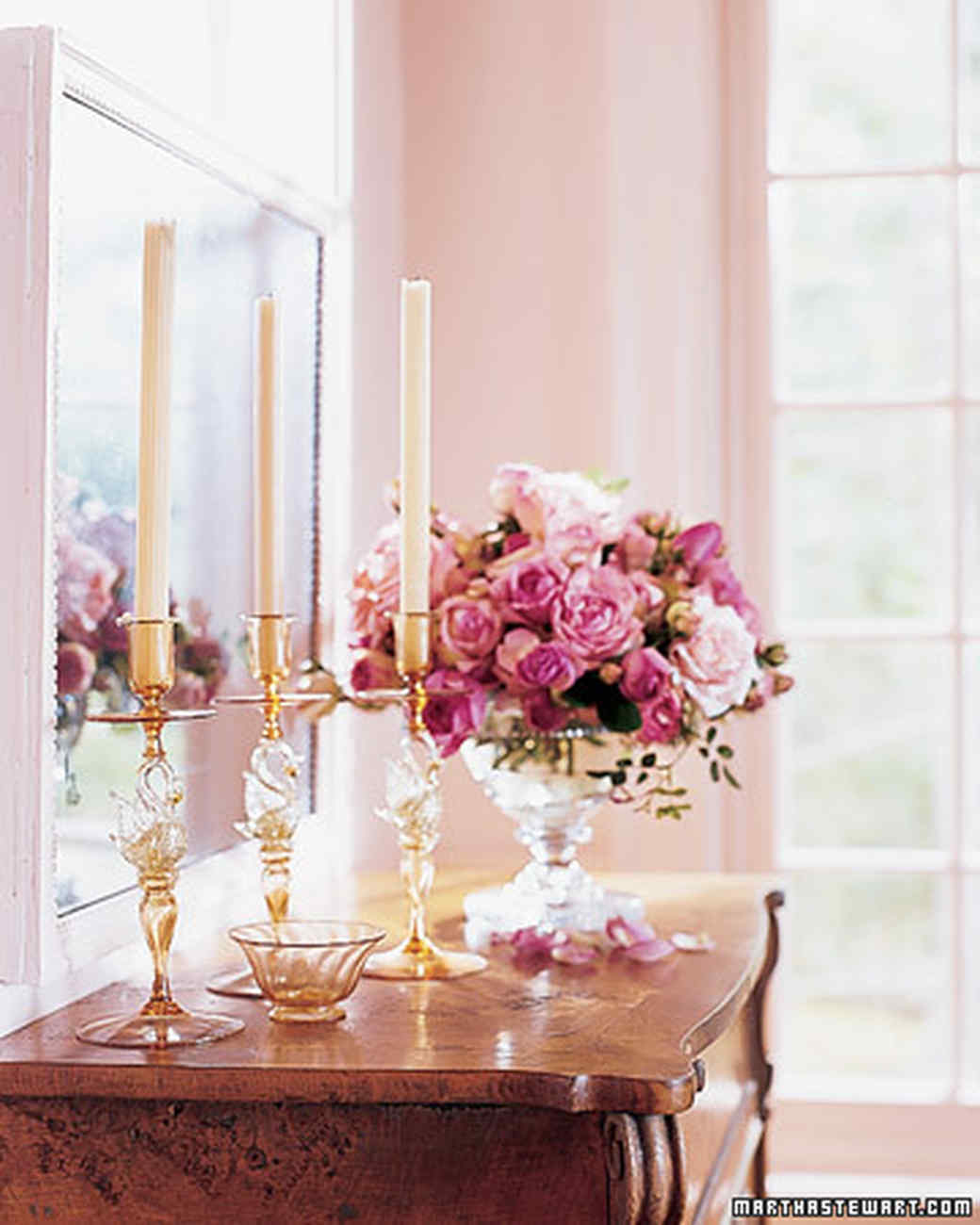 Decorating With Candlesticks Martha Stewart