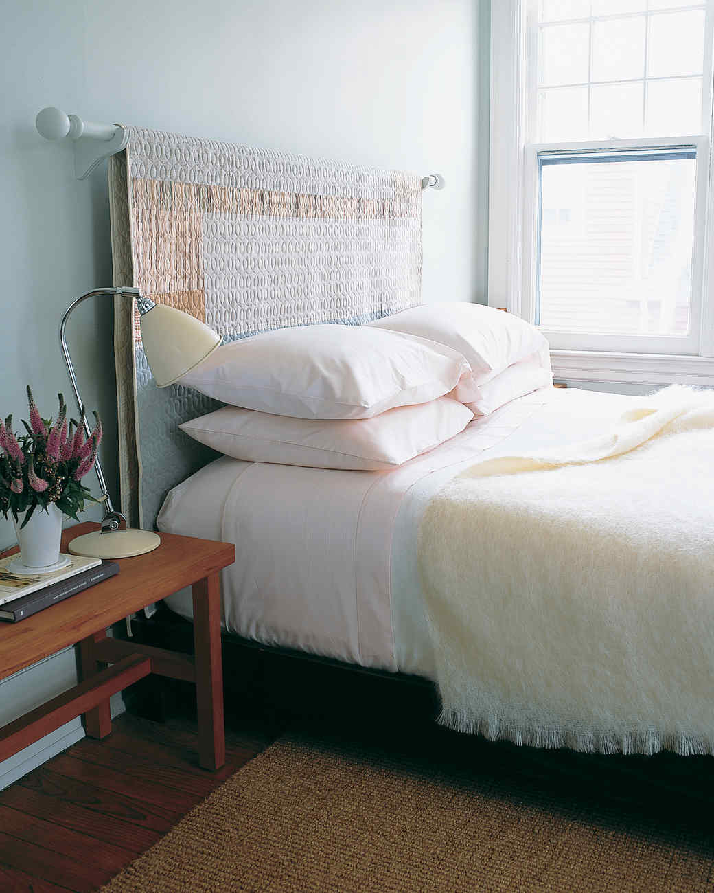 11 diy headboard ideas to give your bed a boost martha - Ideas para cabeceros de cama baratos ...