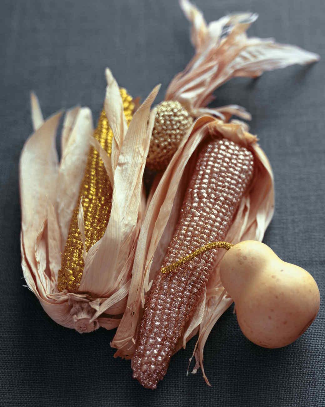 Glittered Corn Thanksgiving Centerpiece