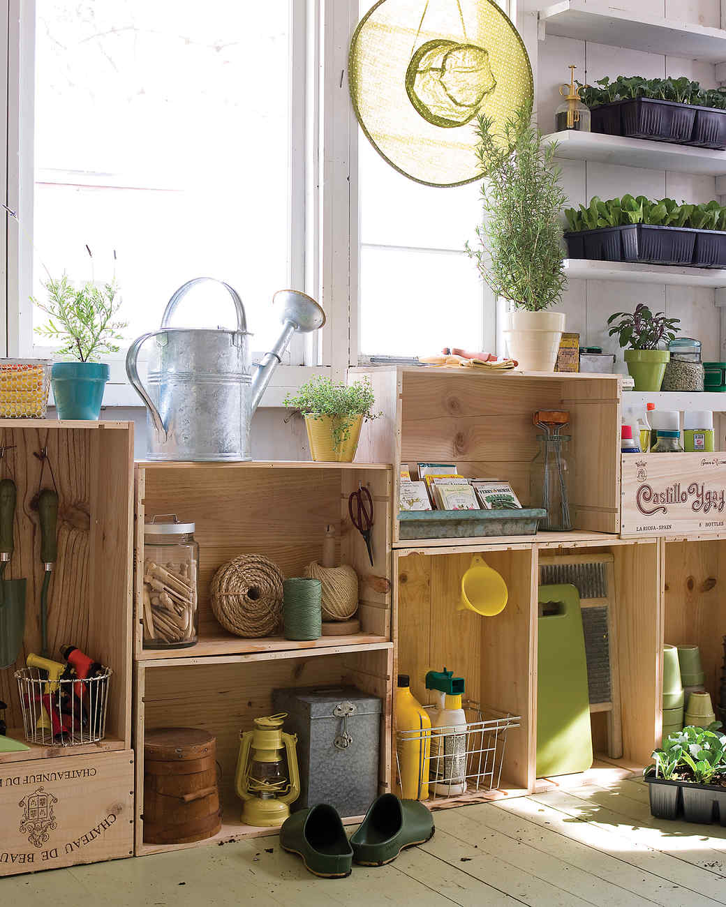 Garden-Shed Crate Cabinets