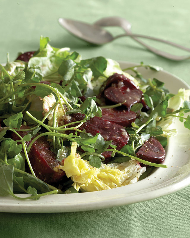 Beets with Watercress and Bibb Lettuce