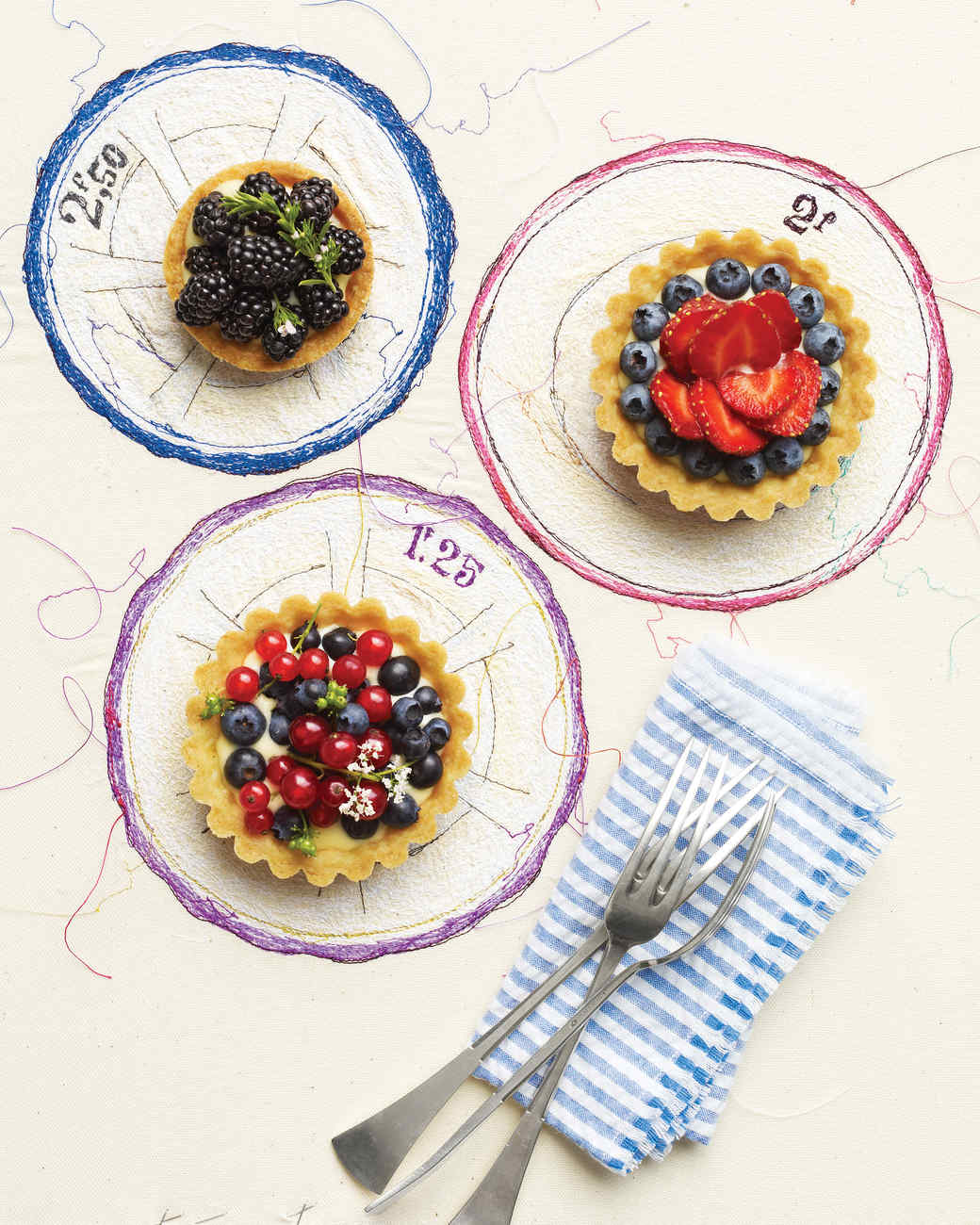 Berries and Cream Tartlets