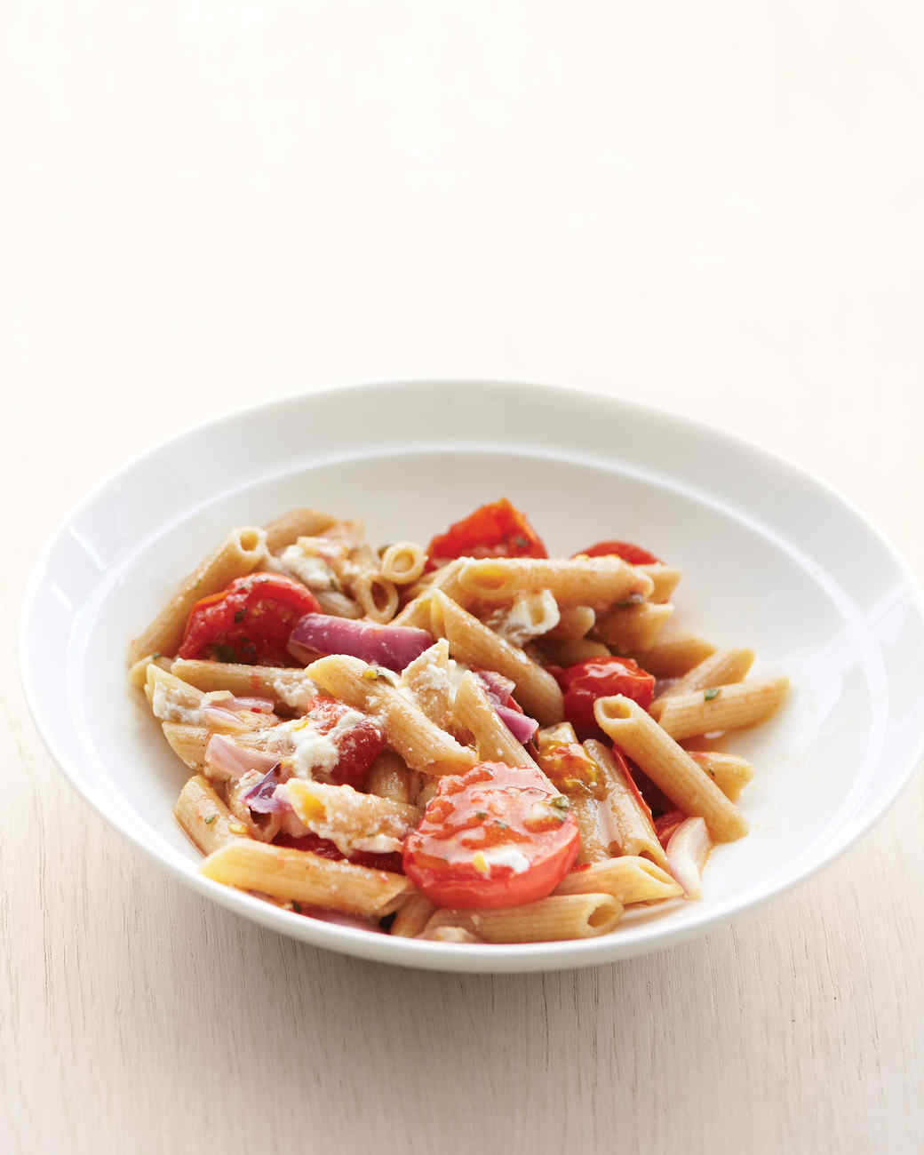Whole-Wheat Penne with Tomatoes and Red Onion