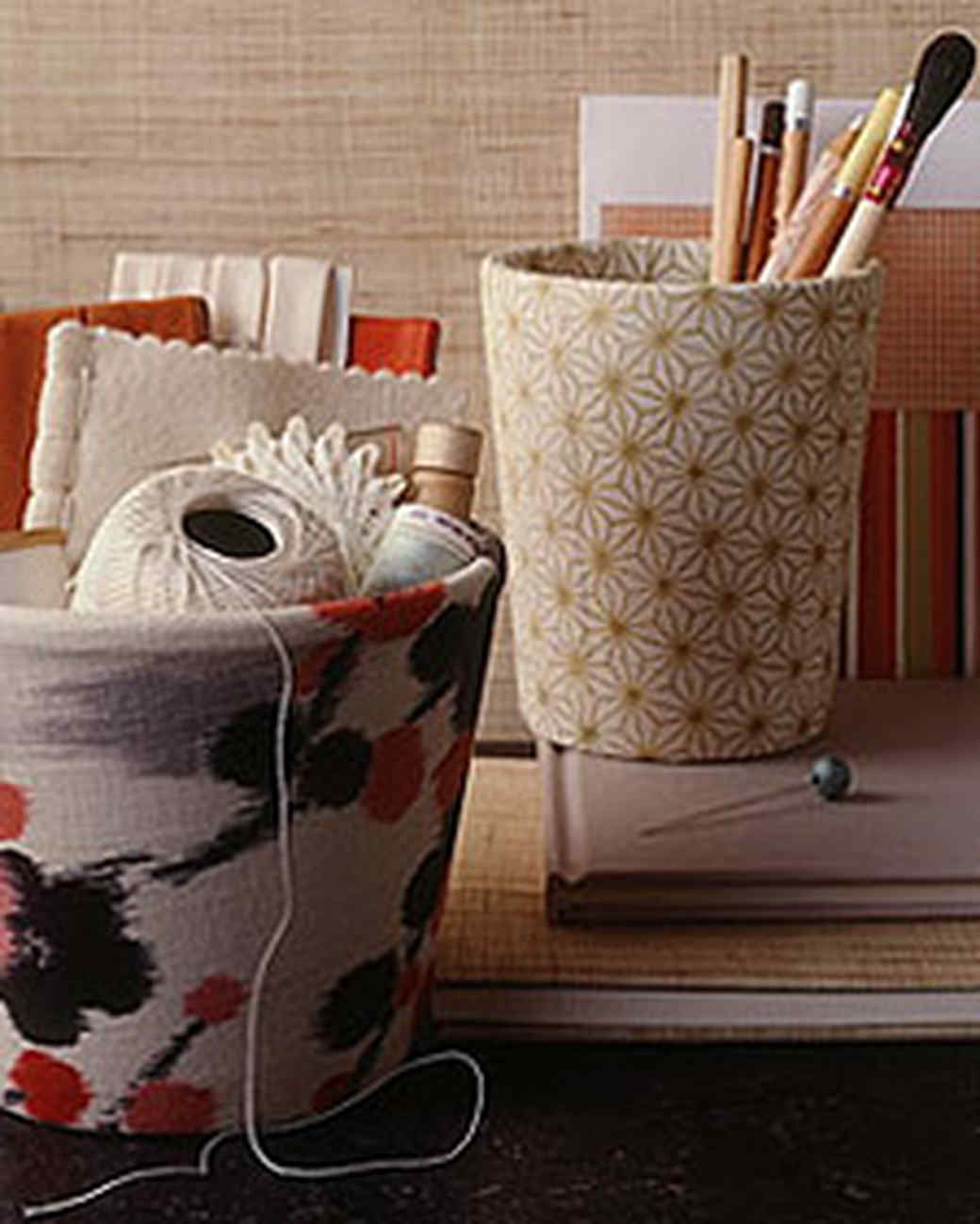 Fabric-Covered Flowerpots