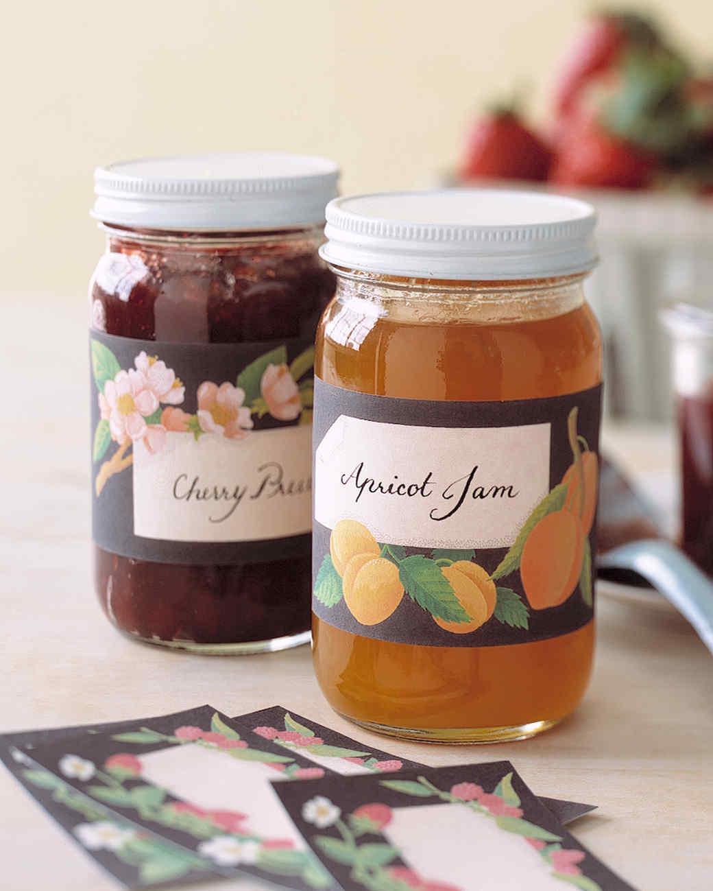 Decorative Jam Labels