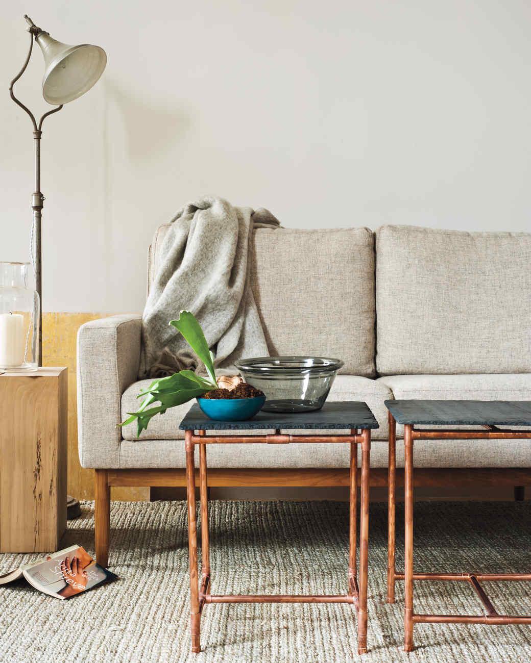 diy industrial furniture long console table industrialchic furniture martha stewart
