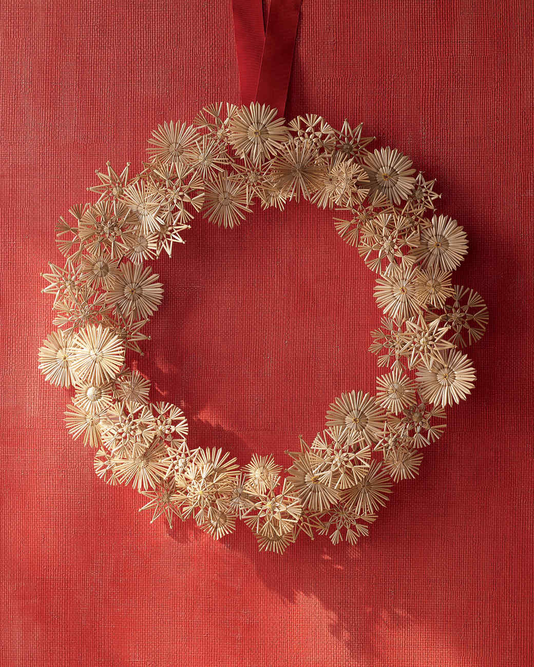 Straw Star Wreath