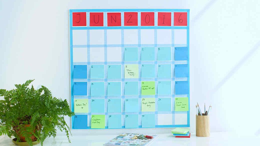 Sticky Note Calendar