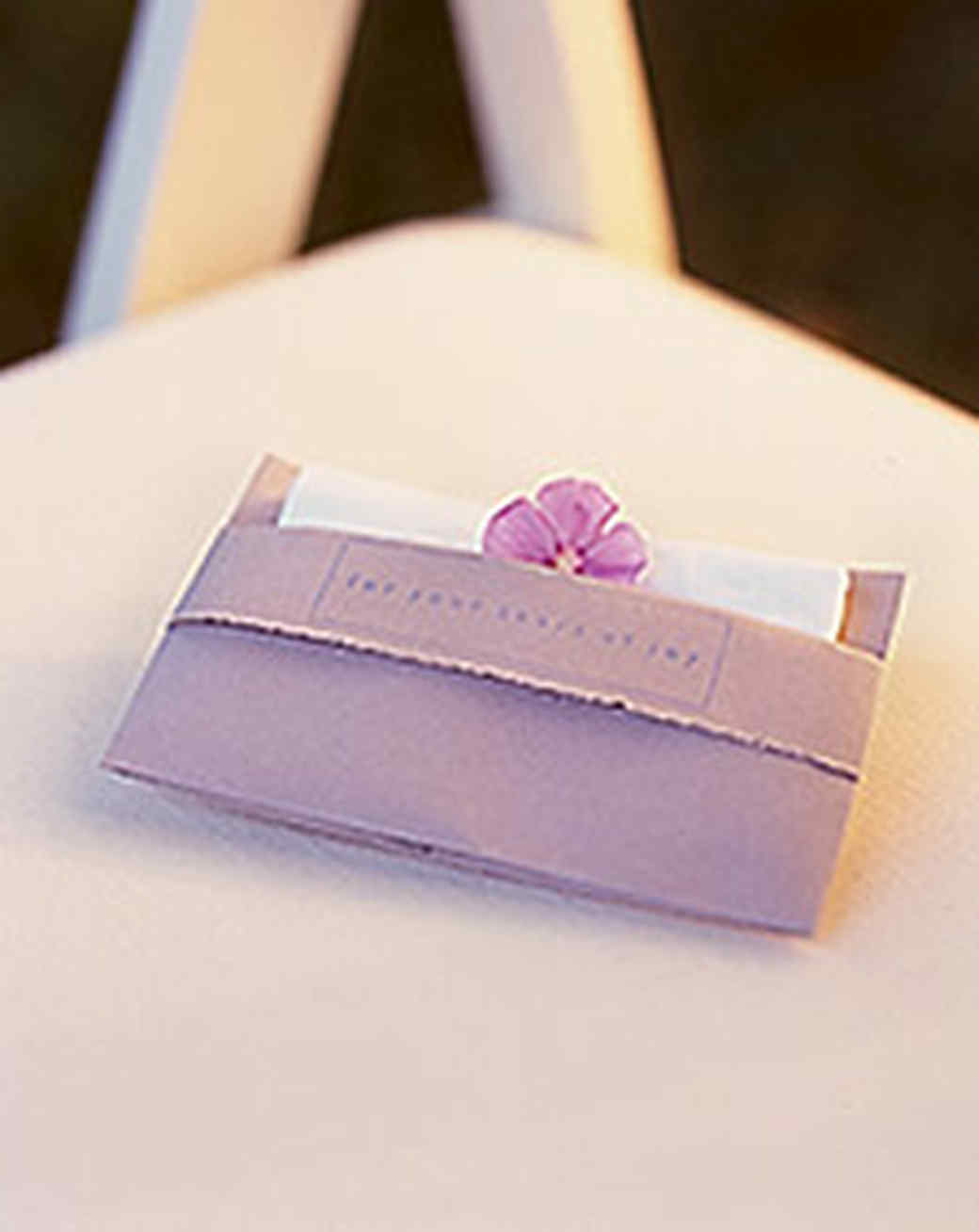 Tissue Pouches for Your Guests