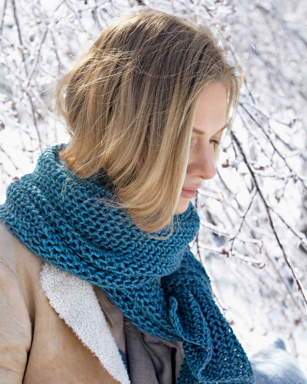 7 knitted scarves to feel cozy and comfortable | martha stewart