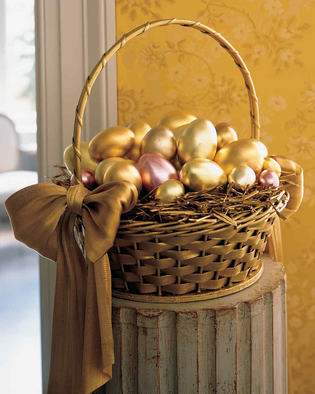 A basket full of easter eggs martha stewart gilt y pleasure negle