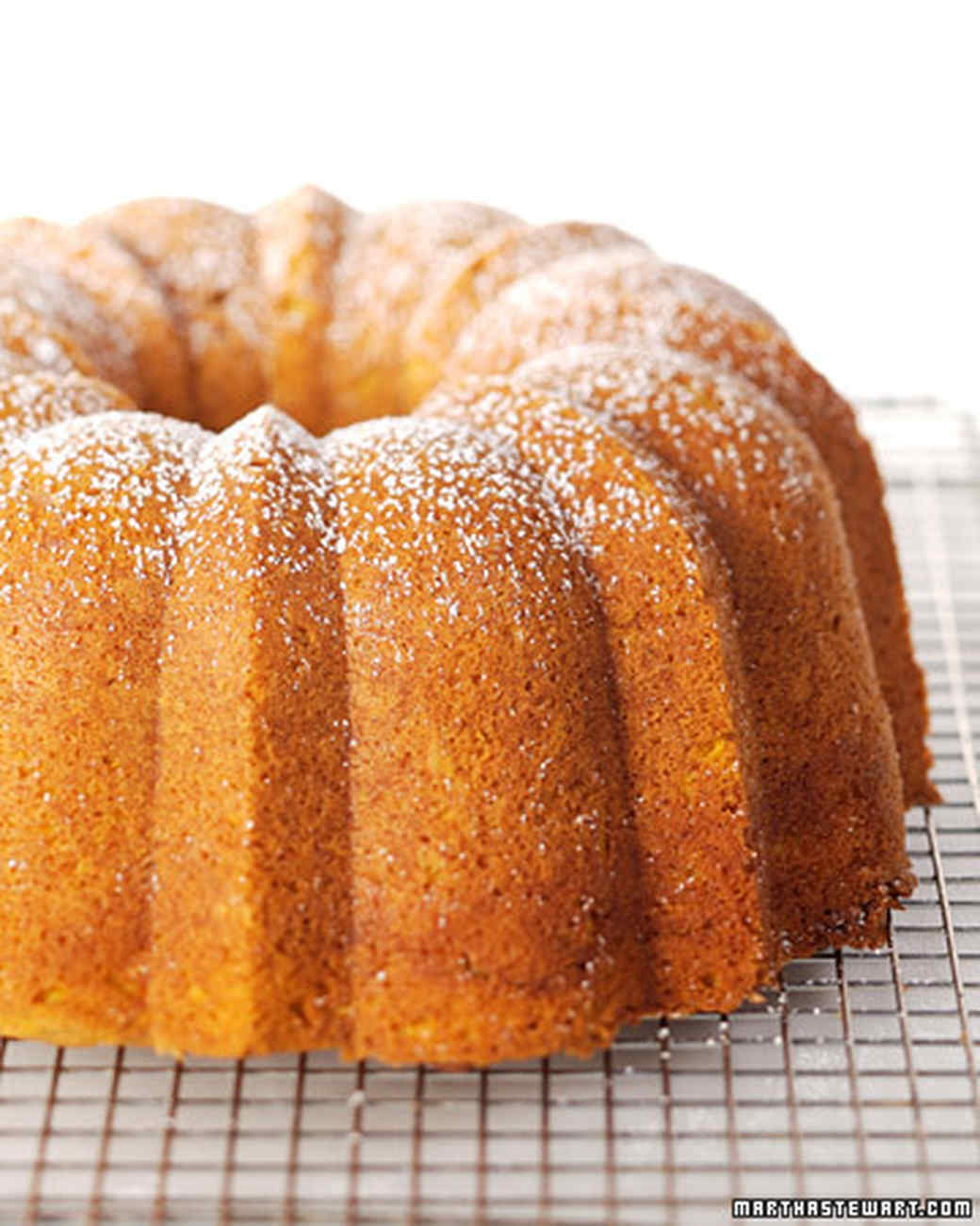 Spicy Pumpkin Bundt Cake Recipe & Video | Martha Stewart