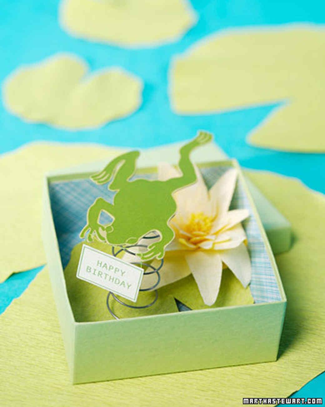 frog in a box card u0026 video martha stewart