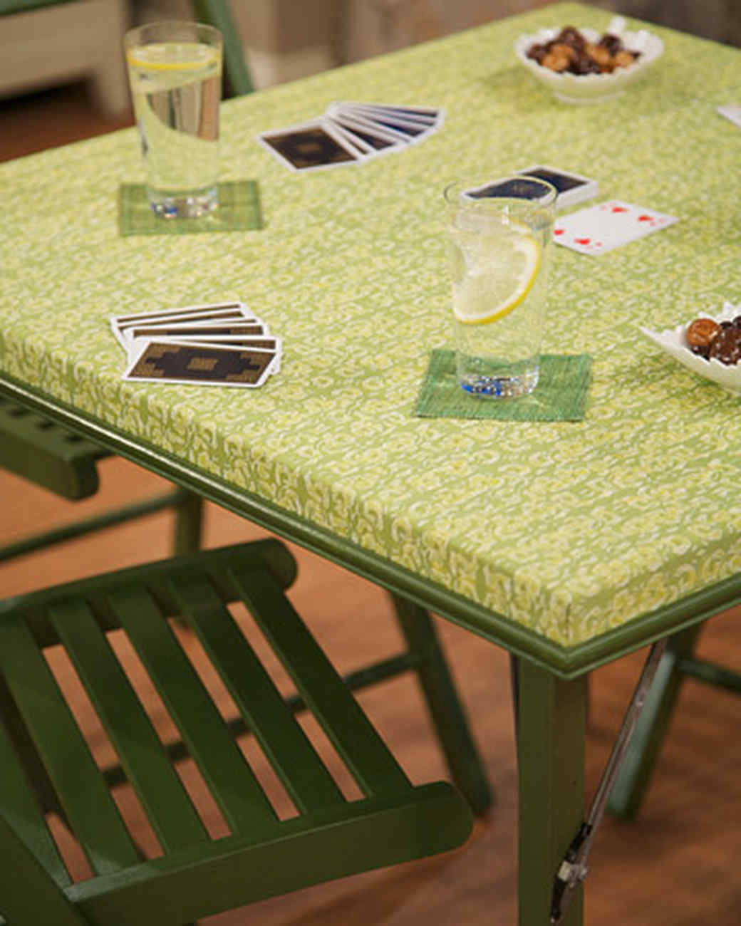 Merveilleux Fabric Covered Card Table