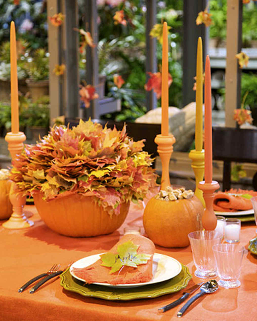 fall table decorations with david monn martha stewart. Black Bedroom Furniture Sets. Home Design Ideas
