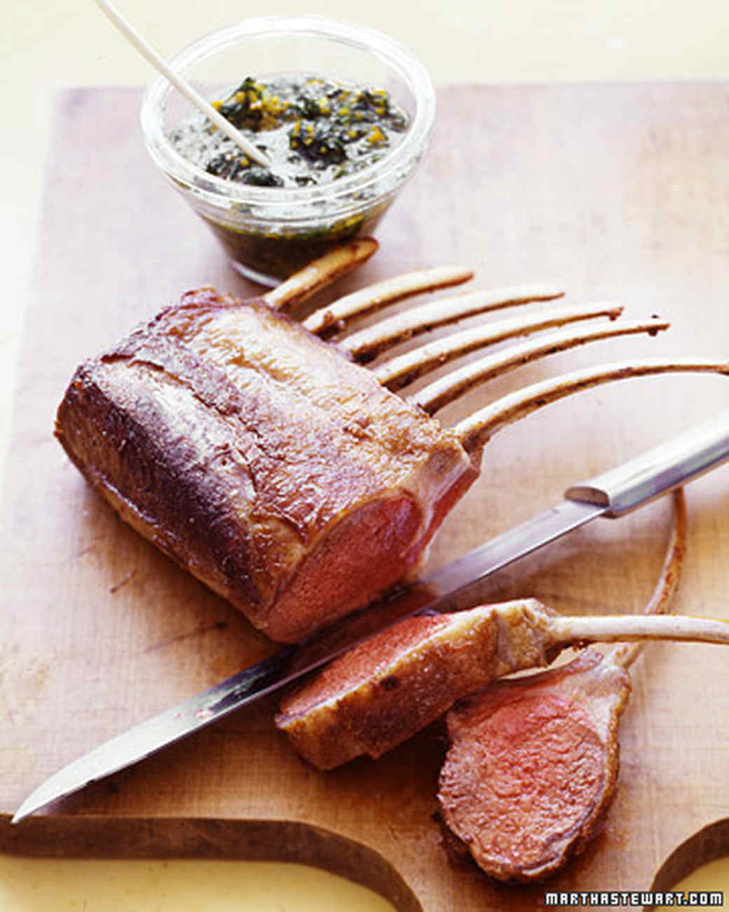 Rack of Lamb with Gremolata